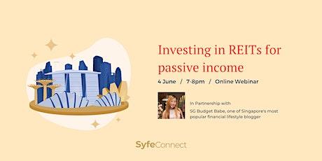 Investing in REITs for passive income biglietti