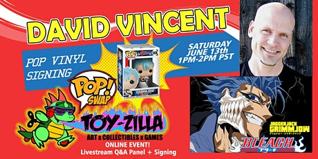 Funko POP SWAP SIGNING #3 TOY-ZILLA with David Vincent tickets