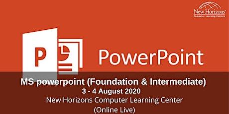Microsoft Powerpoint (Foundation & Intermediate) tickets