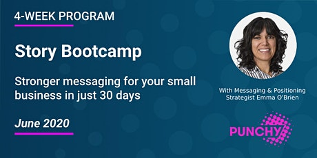 Story Bootcamp: Stronger messaging for your small business in 30-days tickets