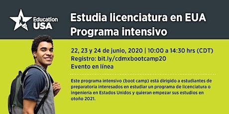 'Virtual  Boot Camp 2020' Programa intensivo - Estudia licenciatura en EUA boletos