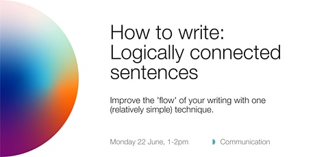 How to write: logically connected sentences tickets