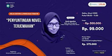 [Online Workshop] Kelas Editing Novel Terjemahan tickets