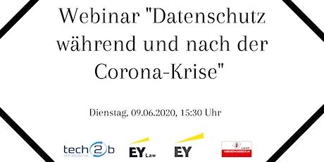 """Webinar """"Datenschutz während und nach der Corona-Krise"""" Tickets"""
