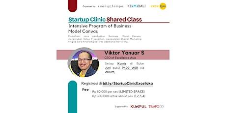 Startup Clinic Shared Class - Intensive Program of Business Model Canvas biglietti