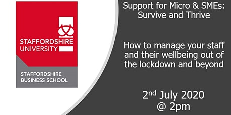 How to manage your staff and their wellbeing out of the lockdown and beyond tickets