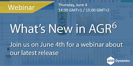 What's New in AGR v6? tickets