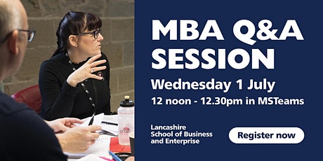 Executive MBA Q&A tickets