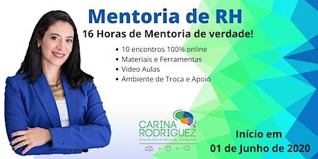 Mentoria de RH Online (com Carina Rodriguez) bilhetes