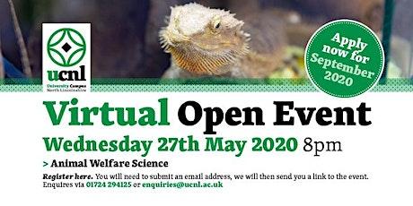 Animal Welfare Science Virtual Open Event biglietti