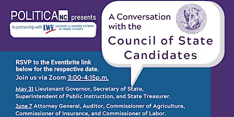 A Conversation With The Council of States Candidates - June 7 Session tickets