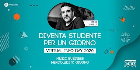 Virtual Info Day • Music Business biglietti