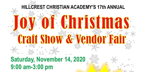 17th Annual Joy of Christmas Craft Show tickets