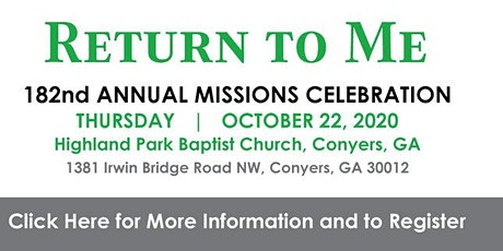 182nd Annual Missions Celebration tickets