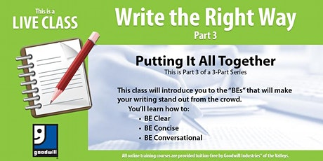 Write the Right Way Part III tickets