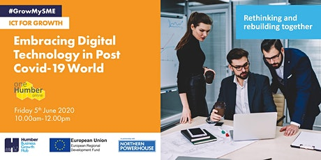 Embracing Digital Technology in a Post Covid-19 World tickets