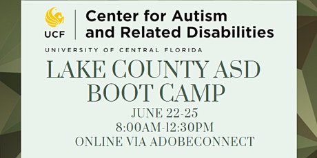 Lake County ASD Boot Camp Day 4 | #3246 tickets