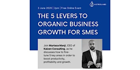 The 5 Levers to Organic Business Growth for SMEs tickets