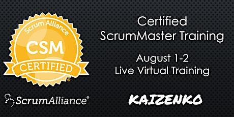 Weekend Live Online Certified Scrum Master Certification (CSM) tickets