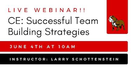 CE: Successful Team Building Strategies tickets