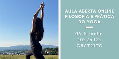 Aula Aberta Online: Filosofia e Prática do Yoga bilhetes