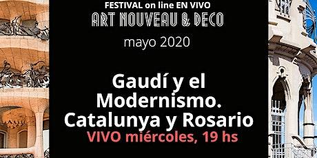 Gaudí, Catalunya y Rosario: evento en vivo AANBA con envio de recuerdo Art entradas