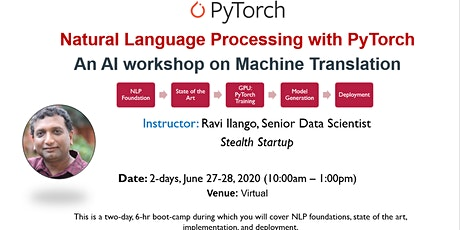 Deep Learning for NLP with PyTorch AI Workshop tickets