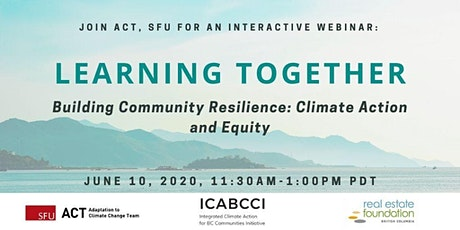 Building Community Resilience: Climate Action and Equity tickets