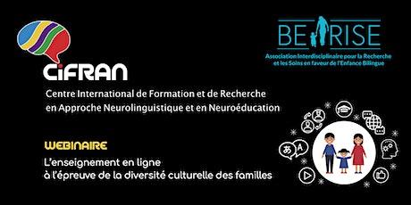 WBNR - L'enseignement en ligne face à la diversité culturelle des familles billets