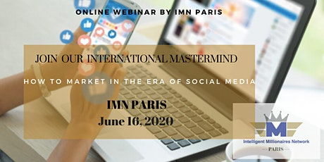 Mastermind Live Webinar:  How to market in the era of Social Media tickets