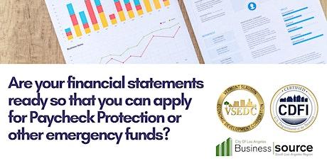Webinar-Interpreting Financial Statements  tickets