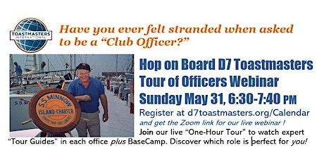 D7 Toastmasters Tour of Officers tickets