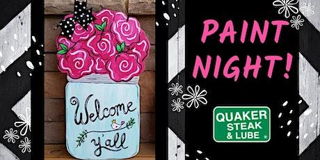 Mason Jar Door Hanger Paint Night tickets