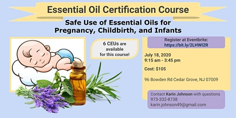 Safe Use of Essential Oils for  Pregnancy, Childbirth, and Infants tickets