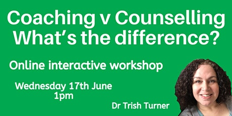 Coaching v Counselling - What's the difference? tickets