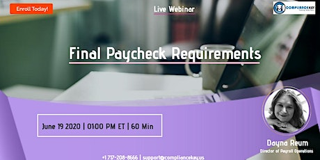 Final Paycheck Requirements tickets