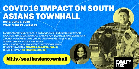 TOWNHALL: The Impact of COVID-19 on South Asians in the United States  tickets