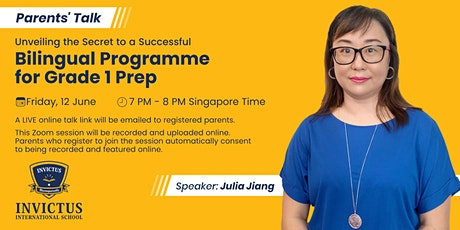 Unveiling the Secret to a Successful Bilingual Programme for Grade 1 Prep tickets