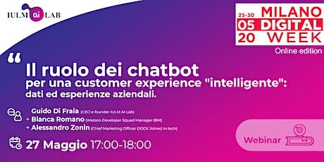"""Il ruolo dei chatbot per una customer experience """"intelligente"""" biglietti"""