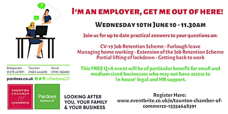 I'm an Employer, Get Me Out of Here! Online HR and Employment Q & A Session tickets