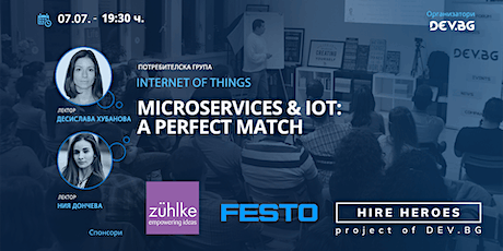 Webinar: Microservices & IoT: A Perfect Match tickets