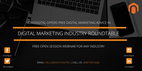 Novi.digital Industry Roundtable Webinar - Hotels, Travel and Tourism tickets