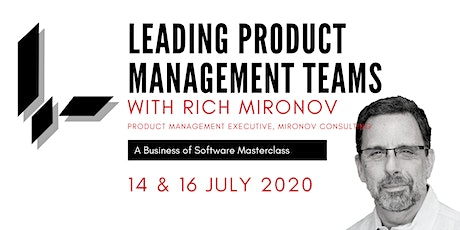 Leading Product Management Teams with Rich Mironov: A BoS Online Masterclass tickets