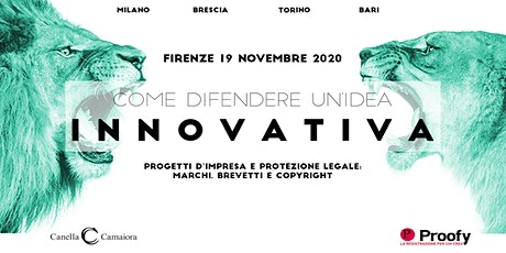 Come difendere un'idea innovativa® Tour 2020/2021 – Firenze entradas