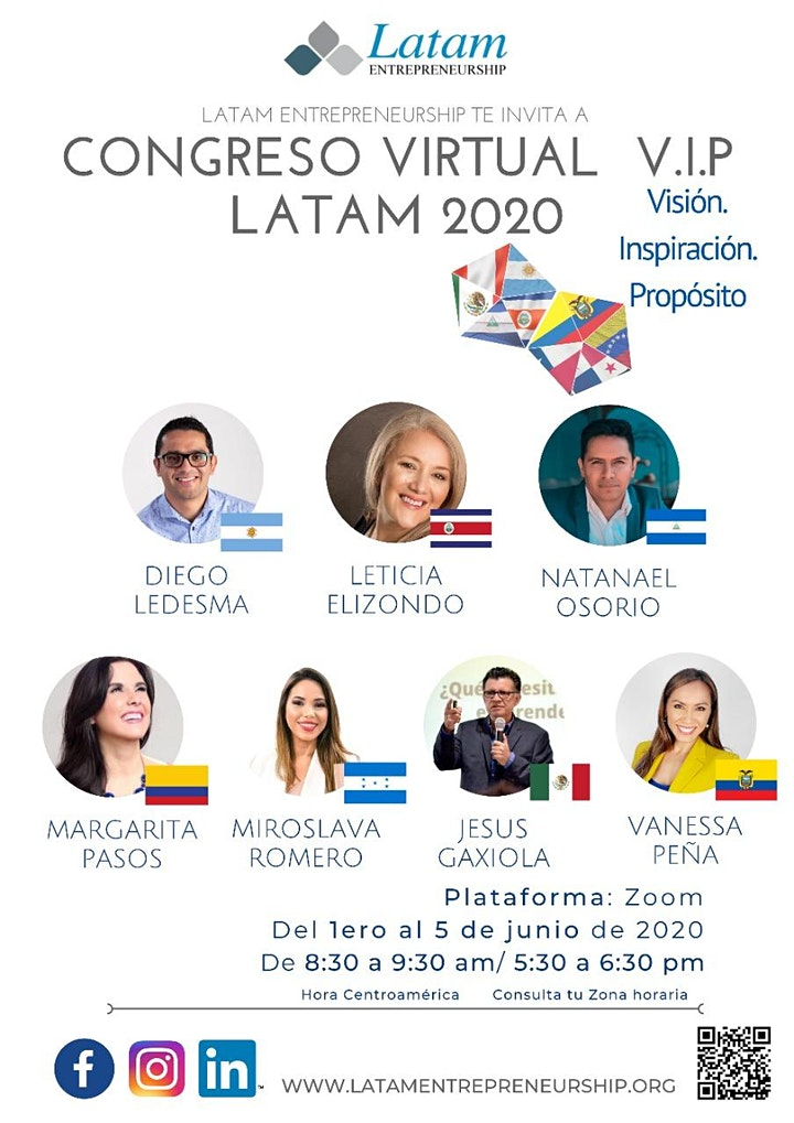 Imagen de V.I.P. Congreso online para emprendedores y profesionales LATAM 2020