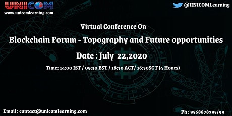 Blockchain Forum - Topography and Future opportunities tickets