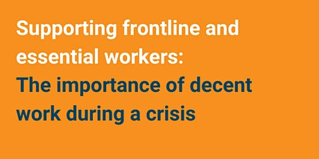 Supporting frontline and essential workers tickets