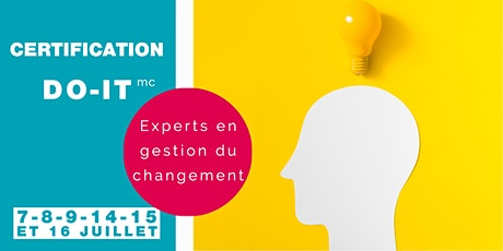 Certification DO-IT experts en gestion du changement (7, 8, 9, 14, 15 et 16 juillet 2020) billets