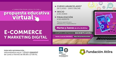 E commerce y Marketing Digital | CET Atilra boletos