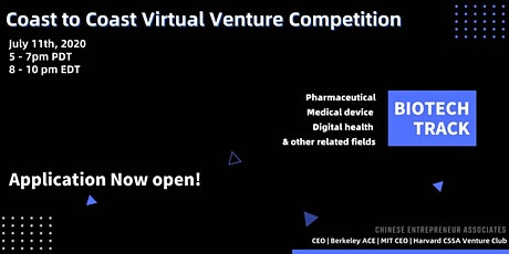 Coast to Coast Virtual Venture Competition - Biotech Track tickets